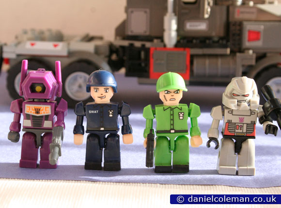 Kre-o - Megatron with Shockwave, Police Officer & Army Soldier