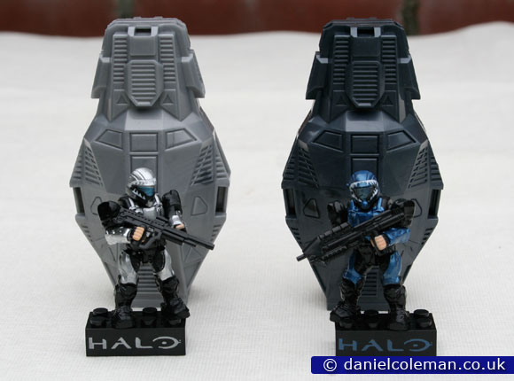 Metallic Series Drop Pods | White ODST & Blue ODST